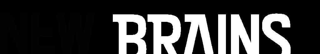 Logo New Brains wit